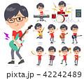 red Tshirt Glasse men_pop music 42242489