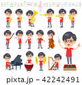red Tshirt Glasse men_classic music 42242491