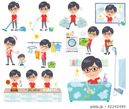 red Tshirt Glasse men_housekeeping 42242495