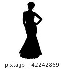 Silhouette of People Standing on White Background 42242869