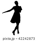 Silhouette of People Standing on White Background 42242873