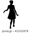 Silhouette of People Standing on White Background 42242878