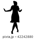 Silhouette of People Standing on White Background 42242880