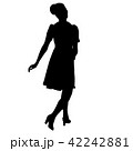 Silhouette of People Standing on White Background 42242881