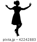 Silhouette of People Standing on White Background. 42242883
