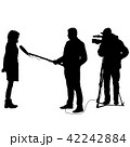 Cameraman with video camera. Silhouettes  42242884