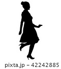 Silhouette of People Standing on White Background 42242885