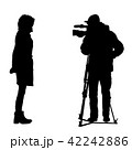 Cameraman with video camera. Silhouettes 42242886