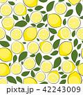レモン 檸檬 シームレスのイラスト 42243009