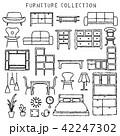 家具 アイコン インテリアのイラスト 42247302
