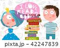 ブック 書籍 本のイラスト 42247839