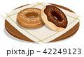 ドーナツ 菓子 おやつのイラスト 42249123
