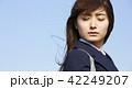 晴れ 女子高生 通学の写真 42249207