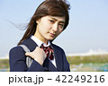 ポートレート 晴れ 女子高生の写真 42249216
