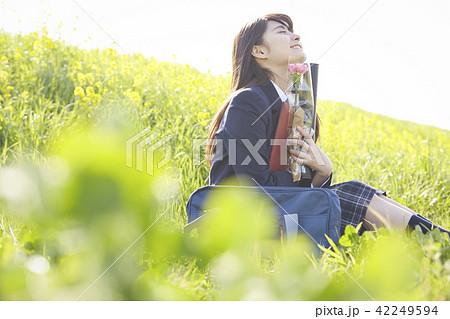 女子高生 卒業 42249594