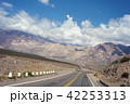 Mountain landscape with blue sky and empty road 42253313