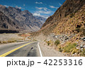 Mountain scenery landscape with empty street 42253316