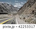 Mountain scenery landscape with empty street 42253317