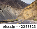Mountain view of argentina with car driving street 42253323