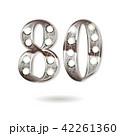 80 数字 ベクターのイラスト 42261360