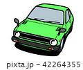 自動車 車 白バックのイラスト 42264355