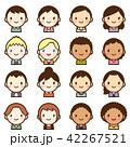 世界の人々 人種 男女 顔 かわいい アイコン セット 42267521