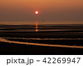 真玉海岸の夕日 42269947
