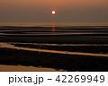 真玉海岸の夕日 42269949