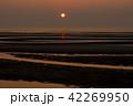 真玉海岸の夕日 42269950