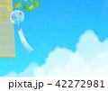 背景素材 風鈴と入道雲(朝顔) 42272981