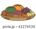 秋の味覚 秋 食材のイラスト 42274530
