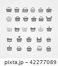 ショッピング バスケット アイコンのイラスト 42277089