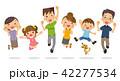 家族 三世代 ジャンプのイラスト 42277534