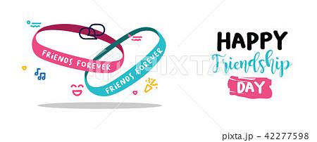 friendship day friends forever bracelet web bannerのイラスト素材