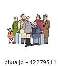 家族 人物 旅行のイラスト 42279511