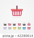 ショッピング バスケット ベクタのイラスト 42280614