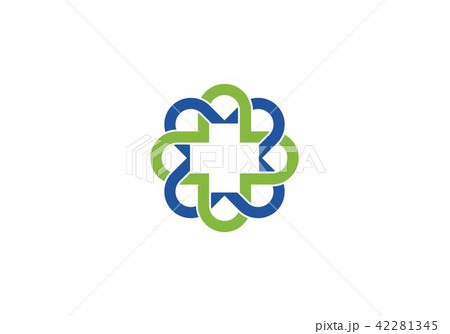 health medical logo templateのイラスト素材 42281345 pixta