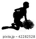 チアガール チアリーダー 人影のイラスト 42282528
