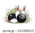ボウリング ボーリング エンブレムのイラスト 42286615