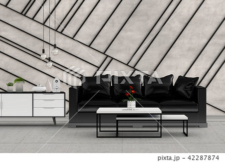 Living room interior in modern style, 3d render 42287874