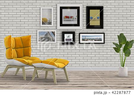 Living room interior in modern style, 3d render 42287877
