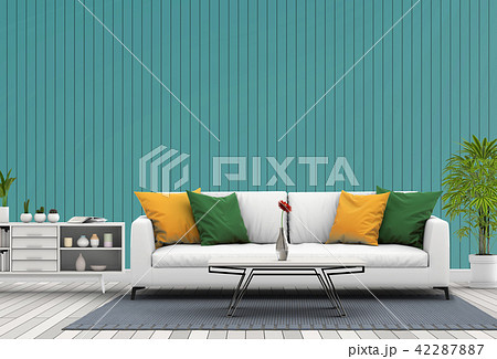 Living room interior in modern style, 3d render 42287887