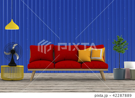 Living room interior in modern style, 3d render 42287889