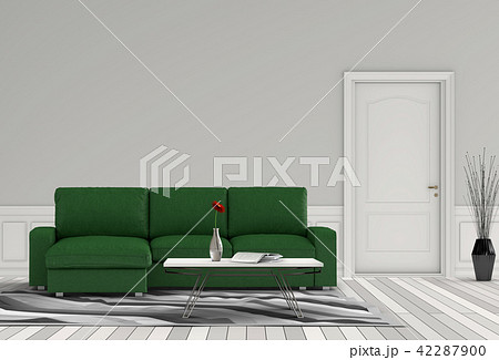 Living room interior in modern style, 3d render 42287900