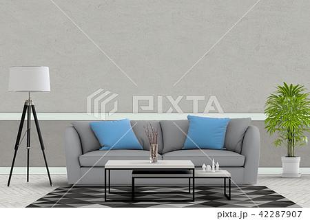 Living room interior in modern style, 3d render 42287907