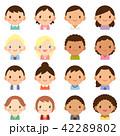 世界の人々 人種 男女 顔 かわいい フラット アイコン セット 42289802