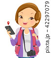 ツーリスト 旅行客 観光客のイラスト 42297079