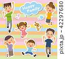 家族 三世代 三世代家族のイラスト 42297680