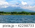 精進湖 富士山 夏の写真 42298733
