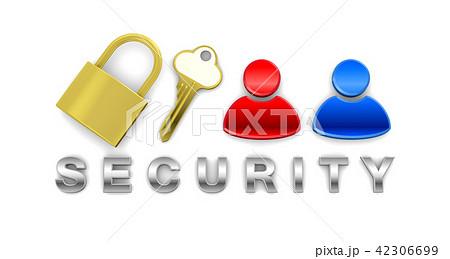 個人情報を保護するセキュリティイメージ 42306699